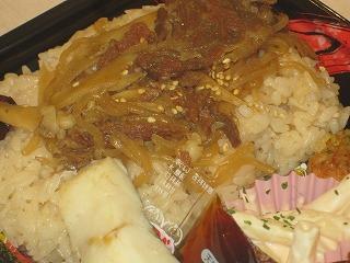 牛肉炒めのせご飯